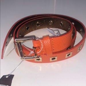 NWT Michael Kors Orange Leather Belt